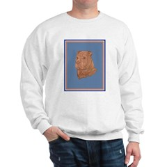 5 point red Sharpei Sweatshirt