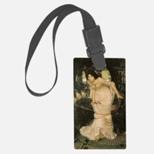 The Lady of Shalott Looking at L Luggage Tag