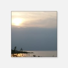 "Sea of Galilee At Daybreak  Square Sticker 3"" x 3"""