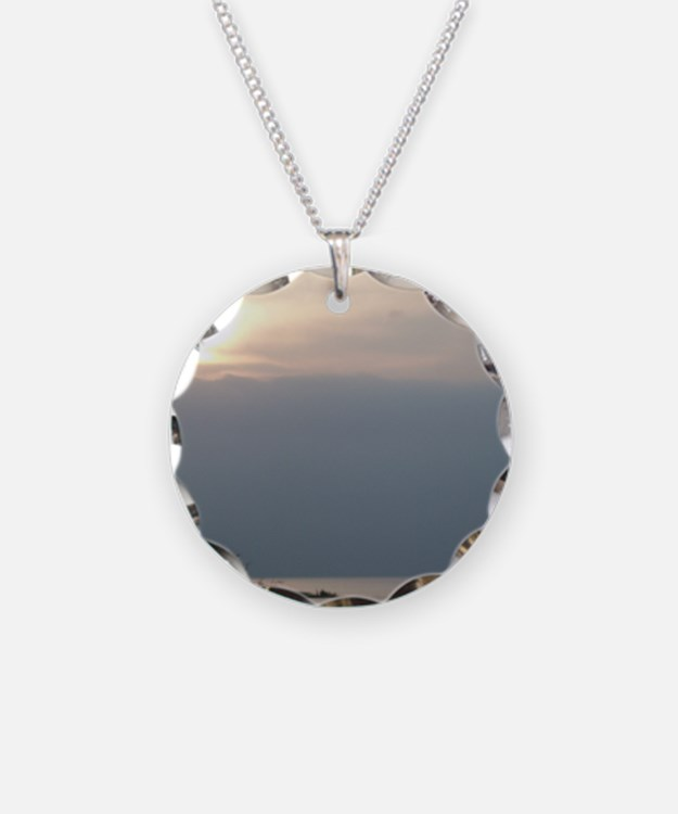 Sea of Galilee At Daybreak C Necklace