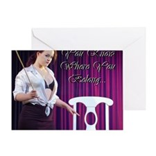 Cafe design mouse pad correct copy Greeting Card