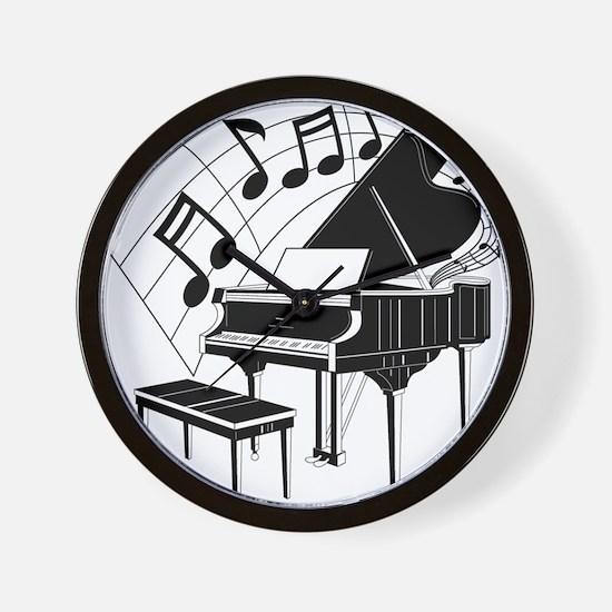 PianoNotes10x10 Wall Clock
