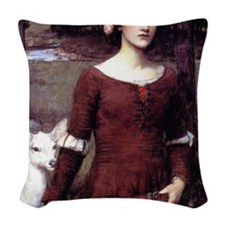 The Lady Clare Woven Throw Pillow