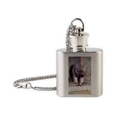 (12p) Giant Anteater Front Flask Necklace