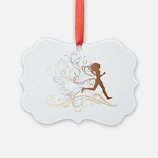 runner_girl_brown Ornament