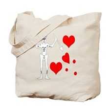 Blackbeard-Hearts Tote Bag