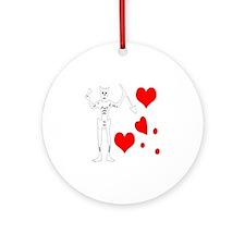 Blackbeard-Hearts Round Ornament