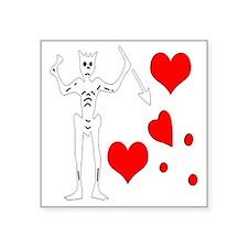 """Blackbeard-Hearts Square Sticker 3"""" x 3"""""""