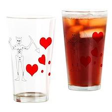 Blackbeard-Hearts Drinking Glass