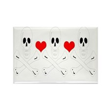 Christopher Condent-Hearts Rectangle Magnet