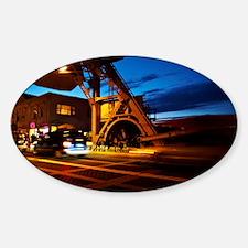 Mystic-Bridge-CT Sticker (Oval)