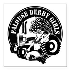 "Derby_logo Square Car Magnet 3"" x 3"""