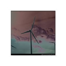 "Wind Farm Square Sticker 3"" x 3"""