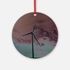 Wind Farm Round Ornament