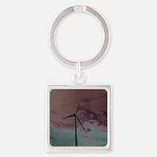 Wind Farm Square Keychain