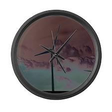 Wind Farm Large Wall Clock