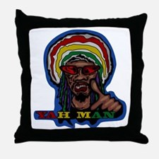 YAH MAN Throw Pillow