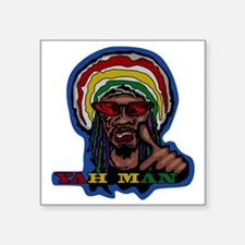 "YAH MAN Square Sticker 3"" x 3"""