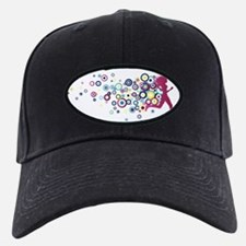 circles-pink Baseball Hat