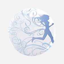 """runner_girl_blue 3.5"""" Button"""
