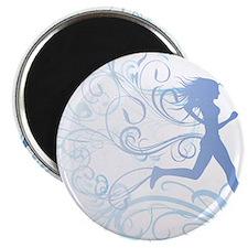runner_girl_blue Magnet