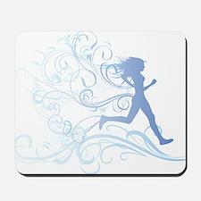 runner_girl_blue Mousepad