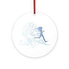 runner_girl_blue Round Ornament