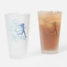 runner_girl_blue Drinking Glass