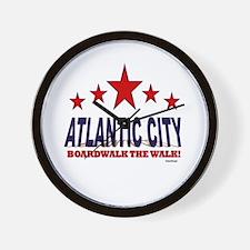 Atlantic City Boardwalk The Walk Wall Clock