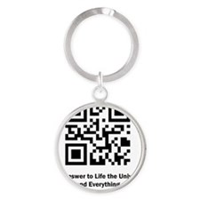 The Answer to Life the Universe and Round Keychain