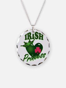 IrishPrincessgreenpk Necklace Circle Charm