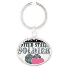 PropertyOfAUnitedStates_Soldier Oval Keychain