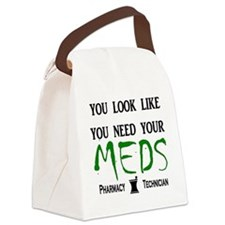 needyourmedslight Canvas Lunch Bag
