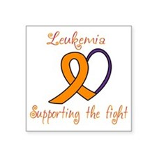 "Leukemia Support Fight Square Sticker 3"" x 3"""