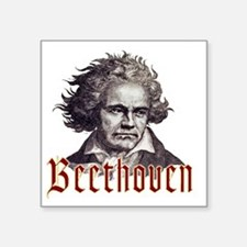 "Beethoven-1 Square Sticker 3"" x 3"""