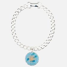10x10 MS Shuffle Charm Bracelet, One Charm