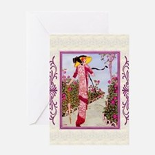 IPAD 4 APRIL GDBT-ROSE Greeting Card