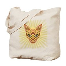 Cool Bright Egyptian style mystic cat Tote Bag