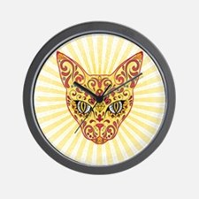 Cool Bright Egyptian style mystic cat Wall Clock