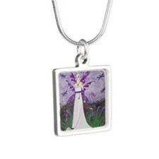 dragonflylillies Silver Square Necklace