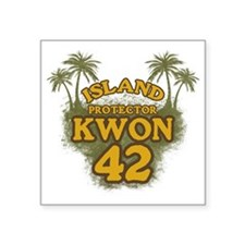 "3-kwon42_green Square Sticker 3"" x 3"""