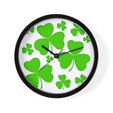 irish clover3 Wall Clock