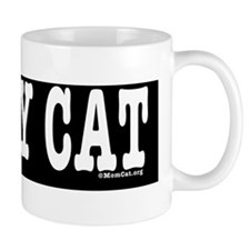 heartcatbumperblack Small Mug