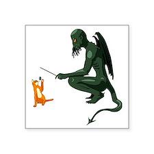 """cthulu_cat_cafepress Square Sticker 3"""" x 3"""""""