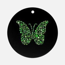 FLORAL BUTTERFLY Ornament (Round)