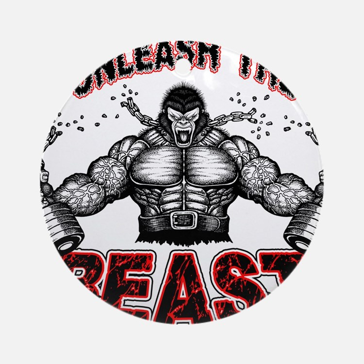 Unleash The Beast Round Ornament