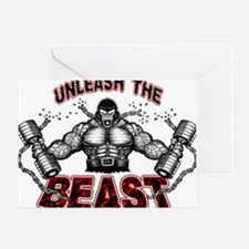 Unleash The Beast Greeting Card