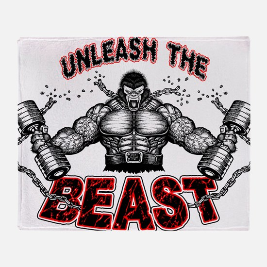 Unleash The Beast Throw Blanket