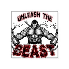 "Unleash The Beast Square Sticker 3"" x 3"""
