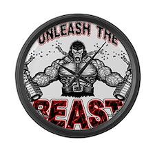 Unleash The Beast Large Wall Clock